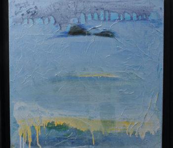 Paysage dans le brouillard 40x40 cm